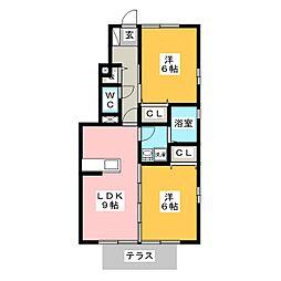 SeiRose[1階]の間取り