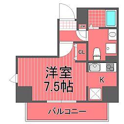 神奈川県川崎市川崎区本町2丁目の賃貸マンションの間取り