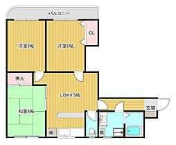 ニューオダマンション[B-1号室]の間取り