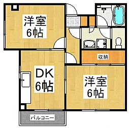 ビューハイツ志木[2階]の間取り