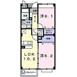 ベルヴェデール[2階]の間取り