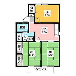 セジュールMASUMI[2階]の間取り
