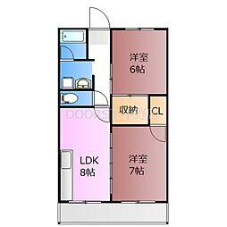 ガーデンパークIII[2階]の間取り