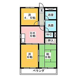 スカイハイツ山田[2階]の間取り