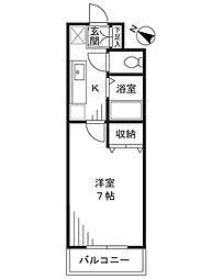 ドミール新城[103号室]の間取り