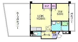 第6元木ビル[4階]の間取り