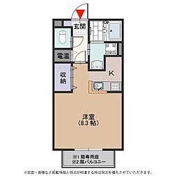 パナプレイス姫島[102号室号室]の間取り