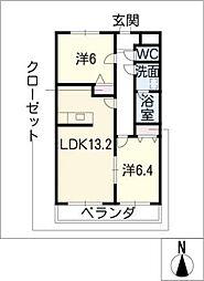 Comfort palace[2階]の間取り
