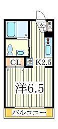 ヒューマンパレス南流山V B棟[3階]の間取り