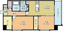 ザ・レジデンス香春口三萩野駅前[10階]の間取り