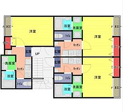 JR武蔵野線 東浦和駅 徒歩12分の賃貸アパート 2階1Kの間取り