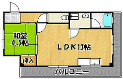 兵庫県明石市茶園場町の賃貸マンションの間取り