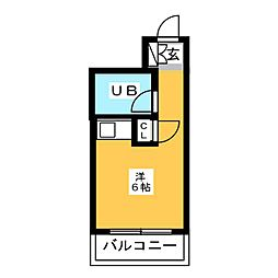 ロマネスク箱崎[3階]の間取り