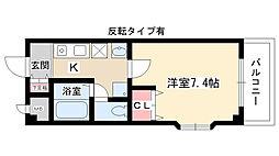 愛知県名古屋市名東区大針2の賃貸マンションの間取り