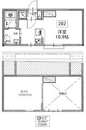 Kiara Blanche 井土ヶ谷[2階]の間取り