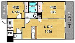 Puraria津田[1階]の間取り