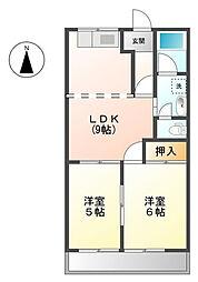 サンハイム桐山[2階]の間取り