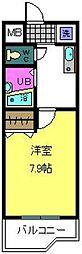 大阪府大阪市住之江区北島2丁目の賃貸マンションの間取り