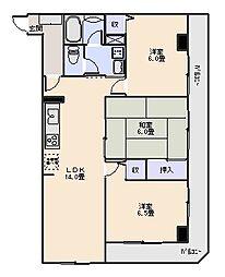 ベルハウス井野II[3階]の間取り