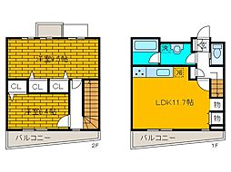 [テラスハウス] 東京都町田市西成瀬2丁目 の賃貸【/】の間取り