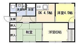 [一戸建] 宮崎県宮崎市恒久5丁目 の賃貸【宮崎県 / 宮崎市】の間取り