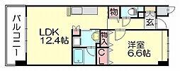 レジデンス空港北[2階]の間取り