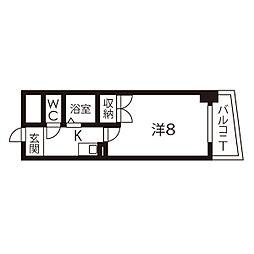ケーエム泉[9階]の間取り
