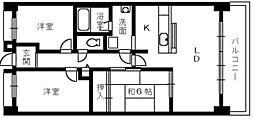 ロイヤルエイトコート1[2階]の間取り
