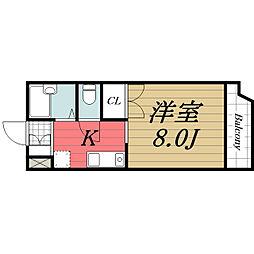 千葉県千葉市若葉区小倉台6丁目の賃貸アパートの間取り