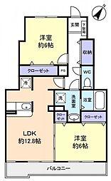 千葉県船橋市三咲4丁目の賃貸アパートの間取り