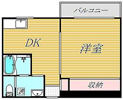 東京都世田谷区船橋6丁目の賃貸マンションの間取り