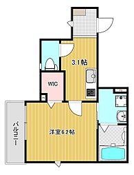 (仮)七松町3丁目ハイツ[2階]の間取り