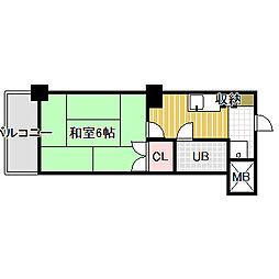 愛知県名古屋市中村区岩塚本通3丁目の賃貸マンションの間取り