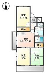 大曽根東マンション[4階]の間取り