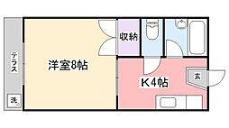 コーポ川島第三[1階]の間取り