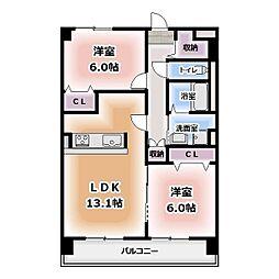 仮称)菰口71マンション[402号室]の間取り