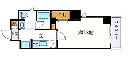 ALTOROSE名古屋 4階1Kの間取り