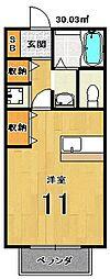 アムール西桂[A101号室]の間取り