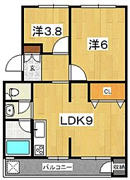 ブランヴェール[C3号室号室]の間取り