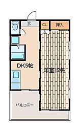 湘風荘[1階]の間取り