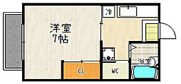 滋賀県大津市大江4丁目の賃貸アパートの間取り