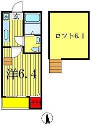 プルメリアール[1階]の間取り