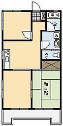 永畑コーポ[201号室]の間取り
