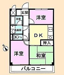 FC東金[3階]の間取り