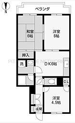 埼玉県さいたま市西区大字指扇の賃貸マンションの間取り