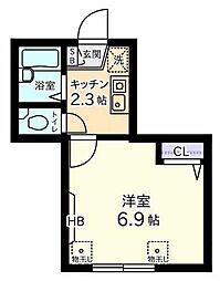 logement tou tou[2階]の間取り