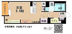 JR横浜線 古淵駅 バス12分 西大沼下車 徒歩4分の賃貸アパート 2階ワンルームの間取り