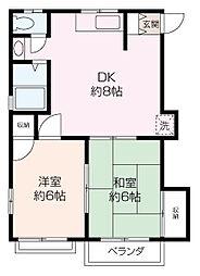 寺ノ上サニーコート 8[2階]の間取り