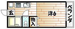 福岡県北九州市八幡西区折尾4の賃貸アパートの間取り