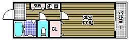 アドバンス阪南[2階]の間取り